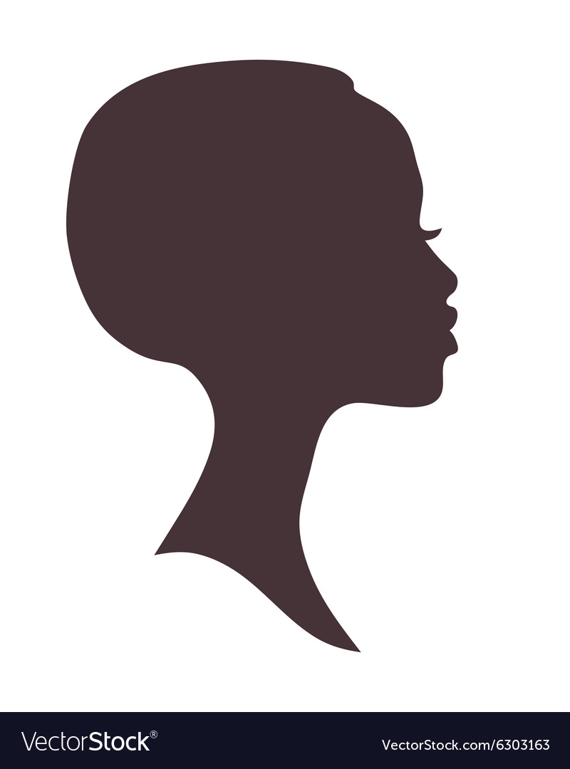 African woman face silhouette vector image
