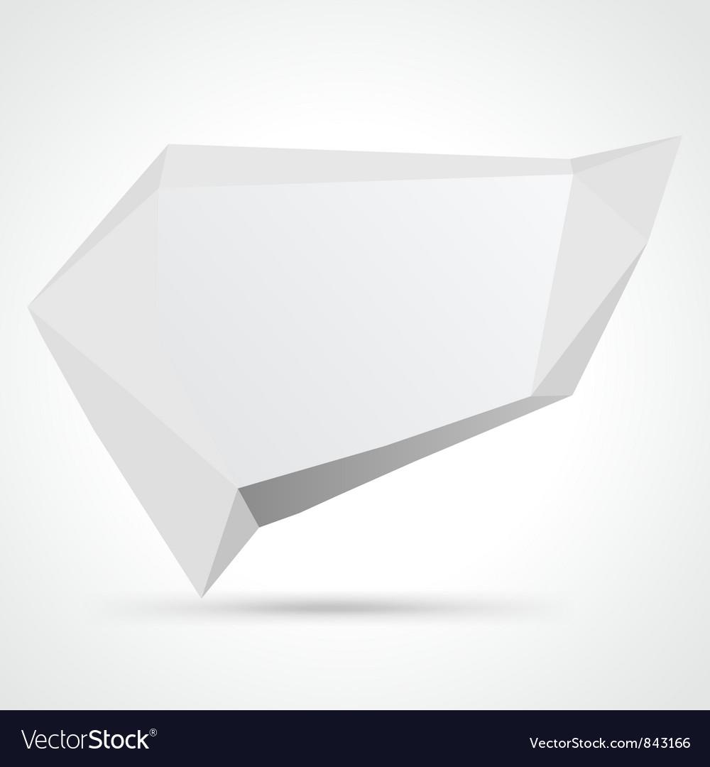 Futuristic speech bubble vector image