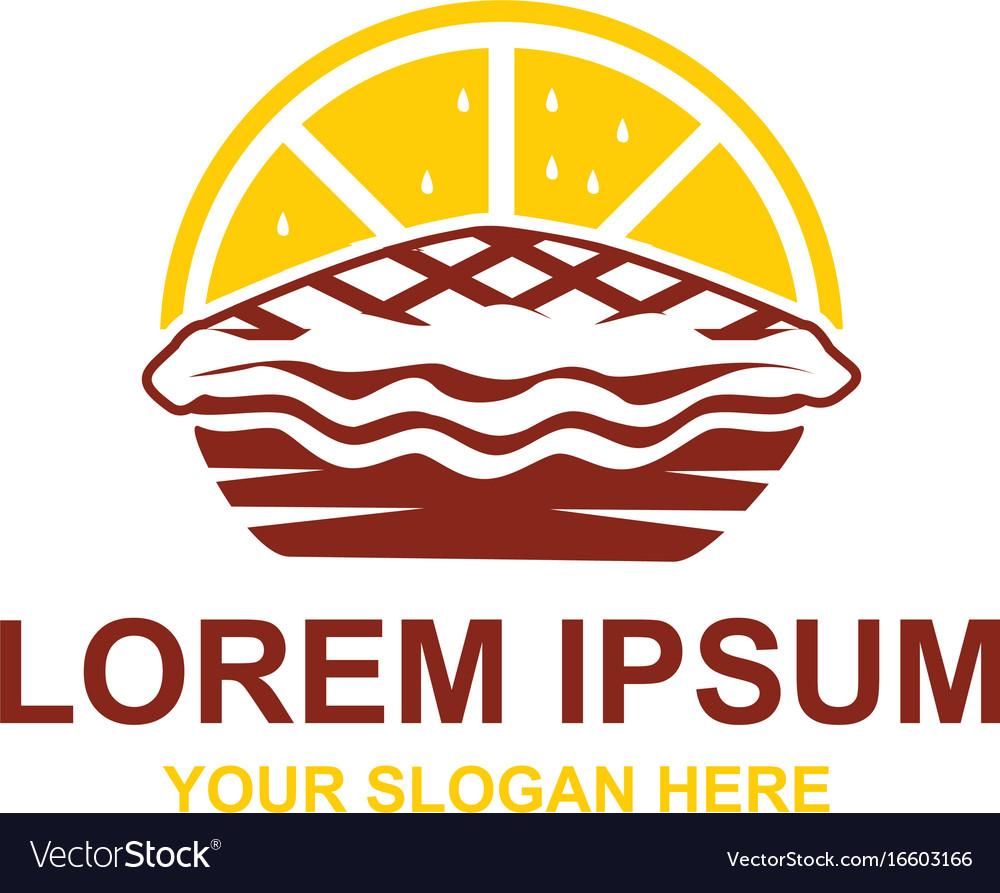 Lemon pie logo vector image