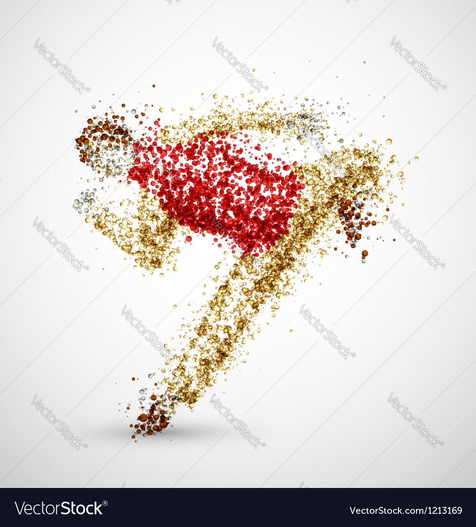 Abstract man vector image