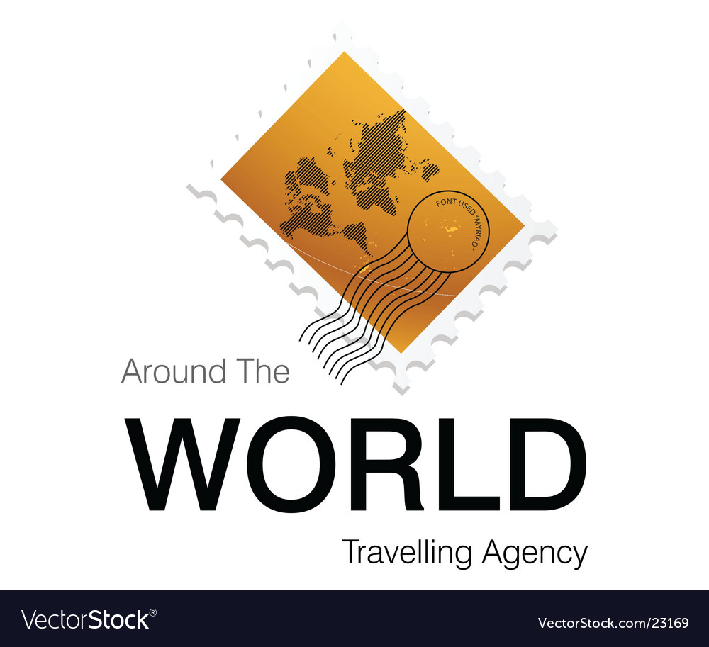 Around world logo vector image