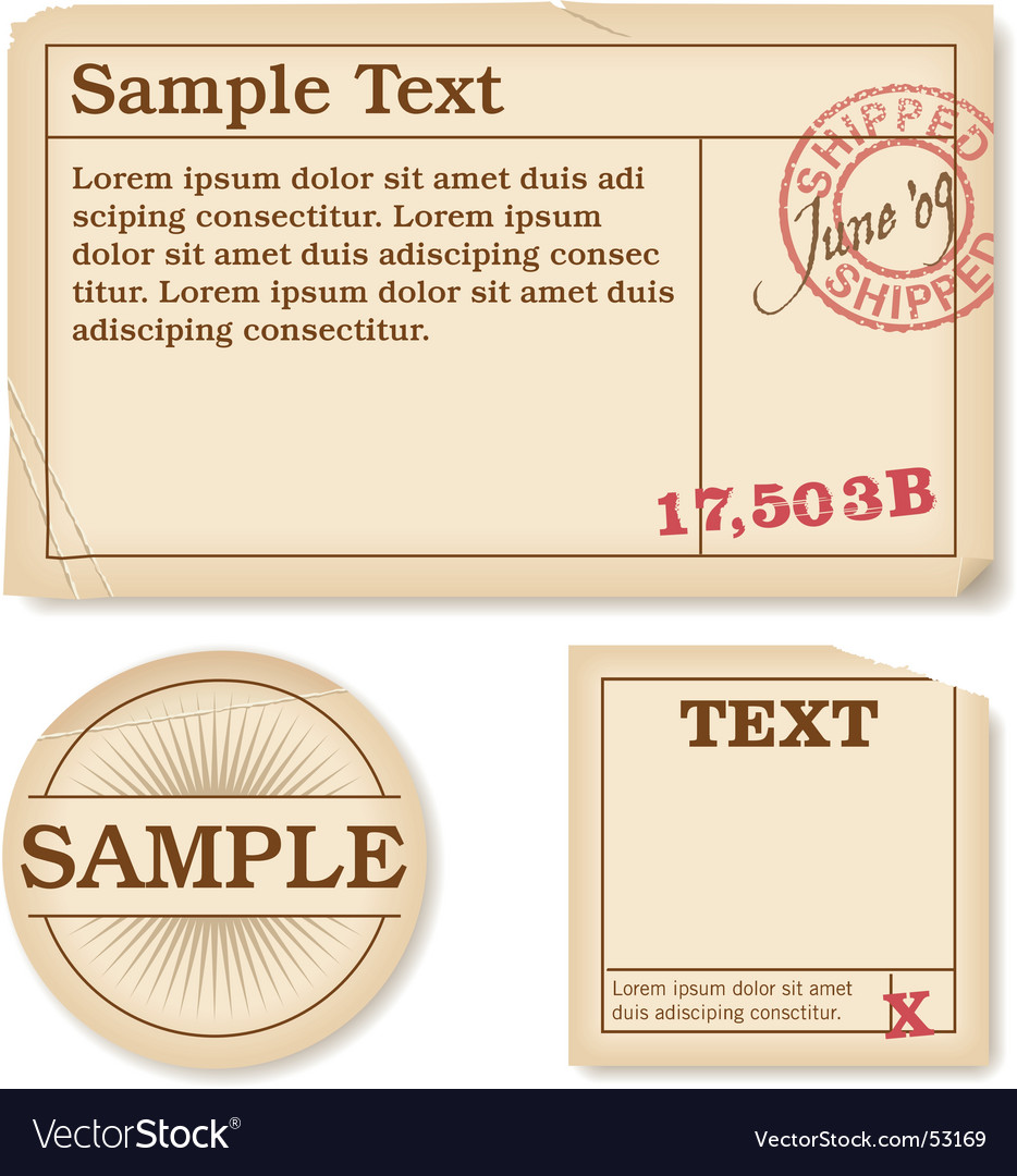 Antique labels Vector Image
