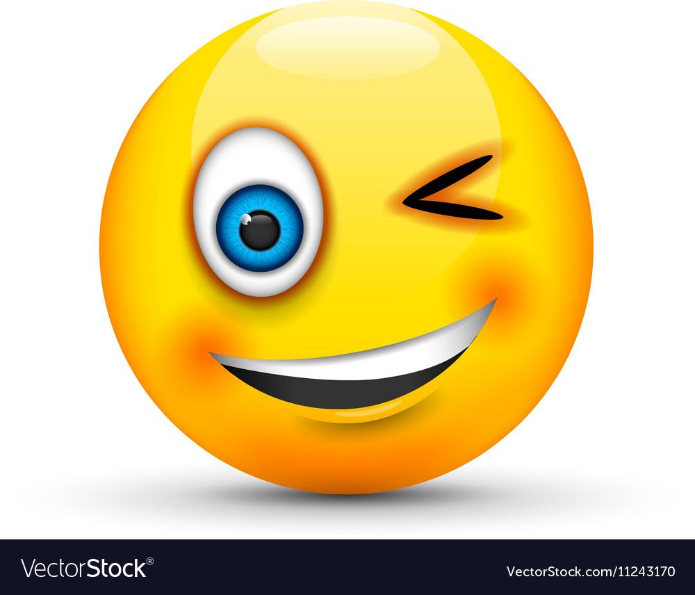 Winking emoji Royalty Free Vector Image - VectorStock