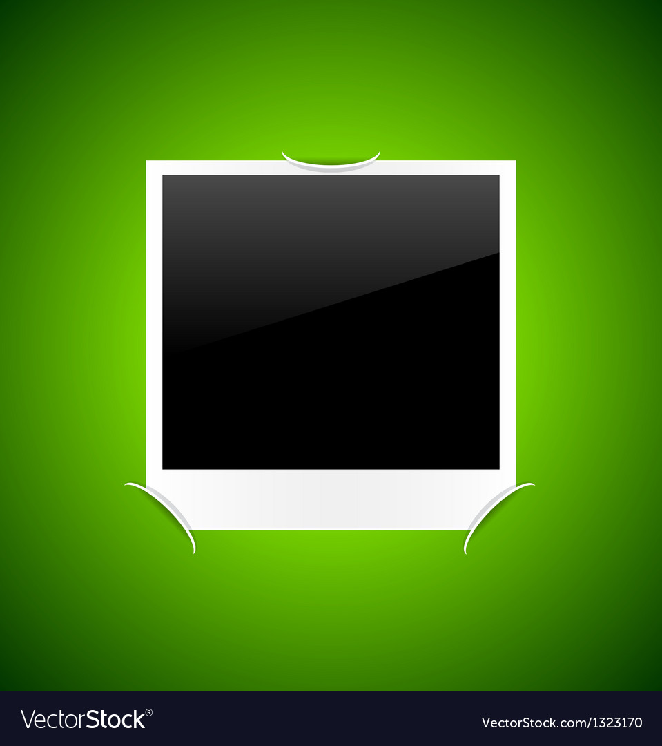 Photo on green background Vector Image