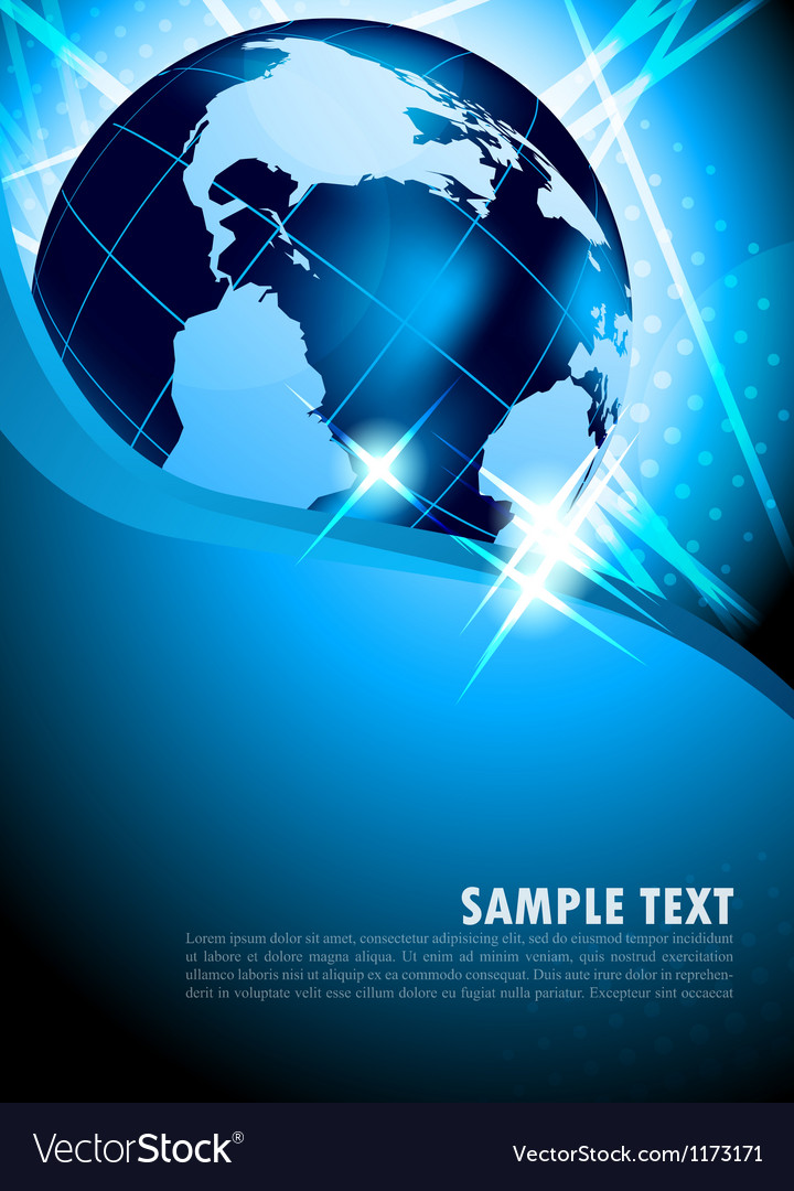 Bright background with earth vector image