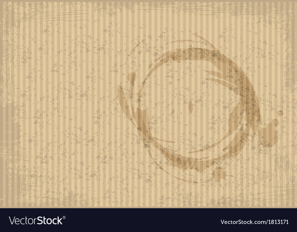 Coffee spots on a cardboard paper vector image