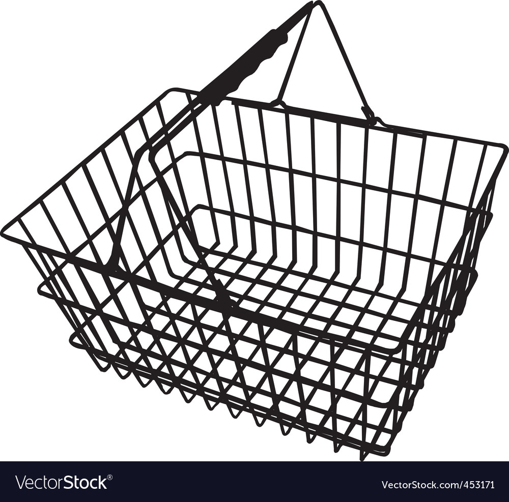 Vector Clipart Shopping Basket : Ping basket royalty free vector image vectorstock