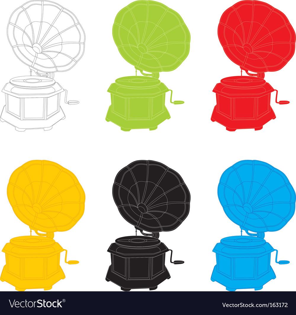 Gramophones vector image