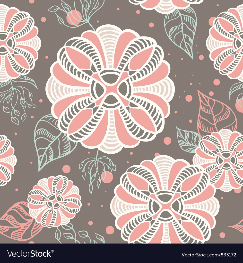 Romantic abstract floral seamless texture vector image