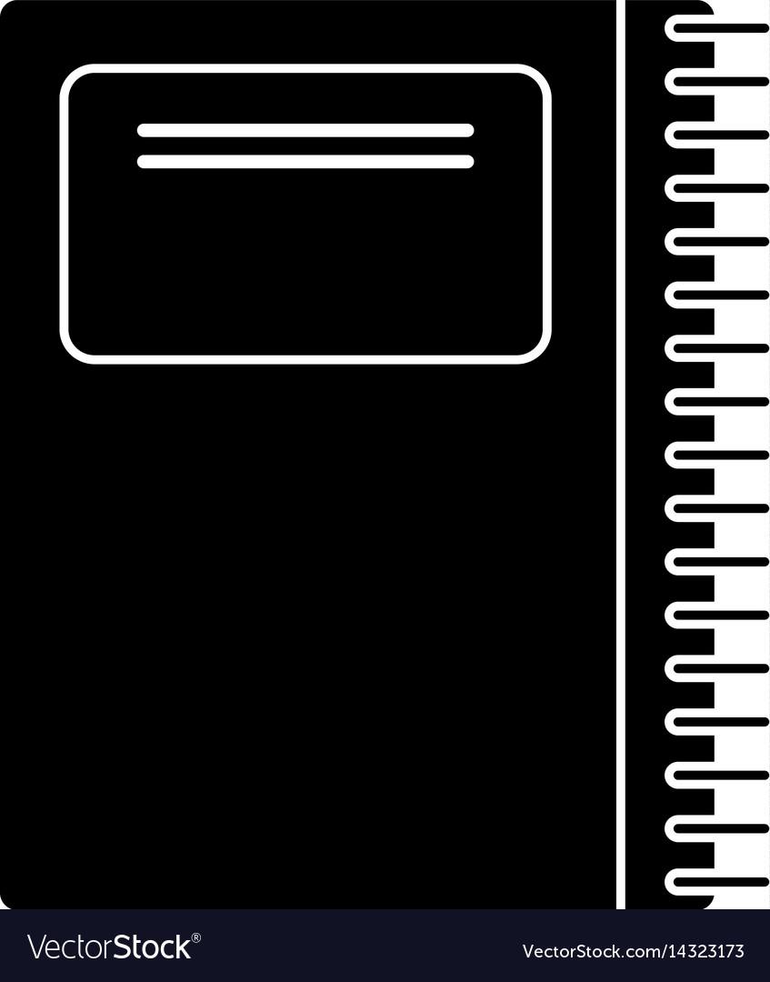 Notebook spiral school pictogram vector image