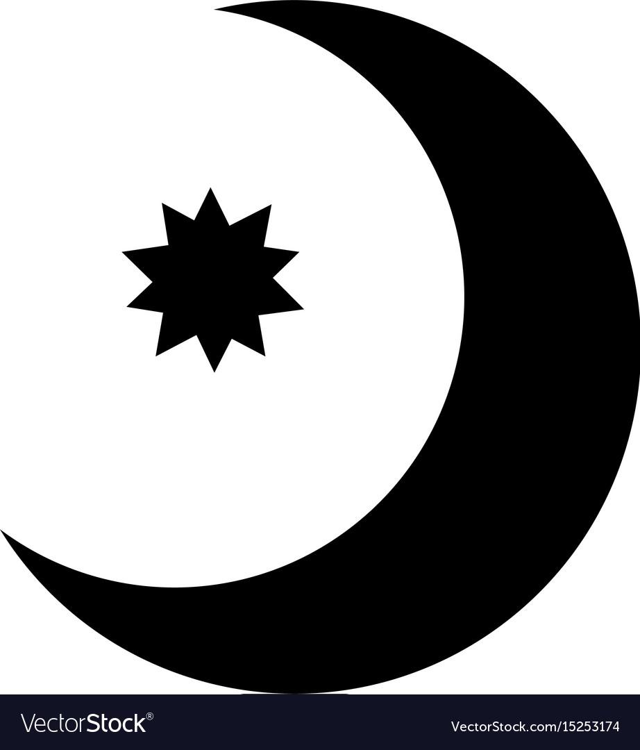 Half moon with star con royalty free vector image half moon with star con vector image biocorpaavc