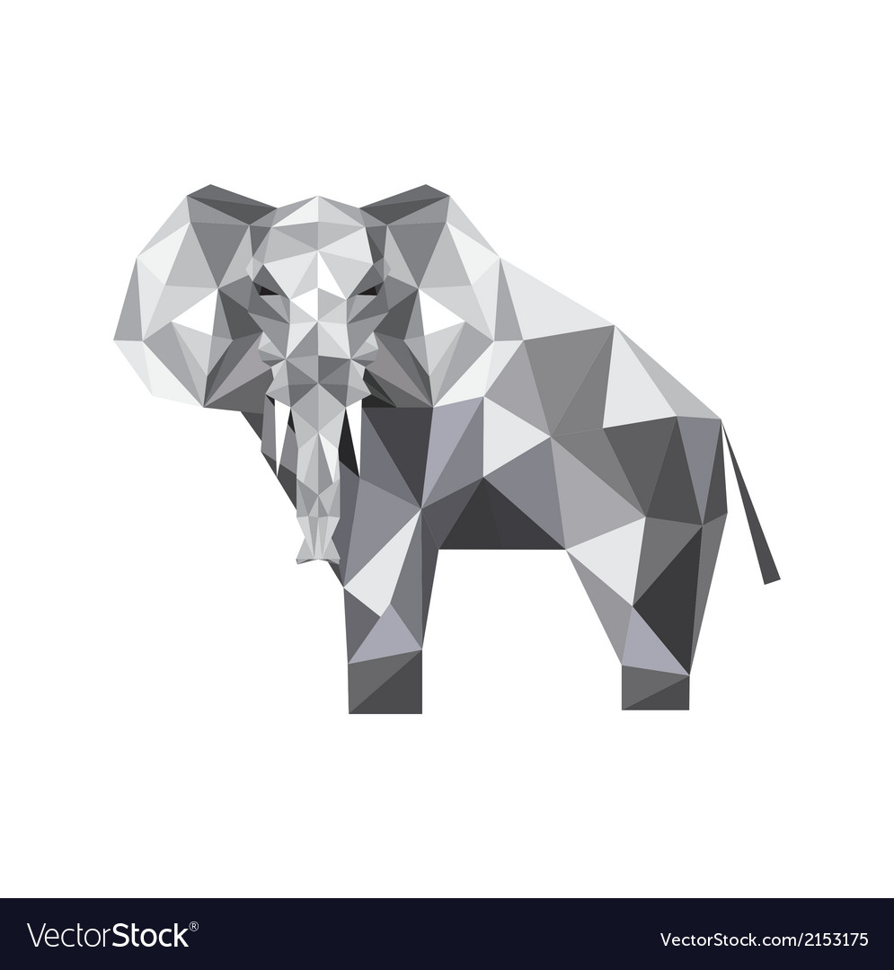 Abstract origami elephant royalty free vector image abstract origami elephant vector image jeuxipadfo Choice Image