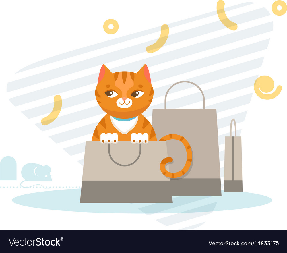 Hunting cat concept vector image