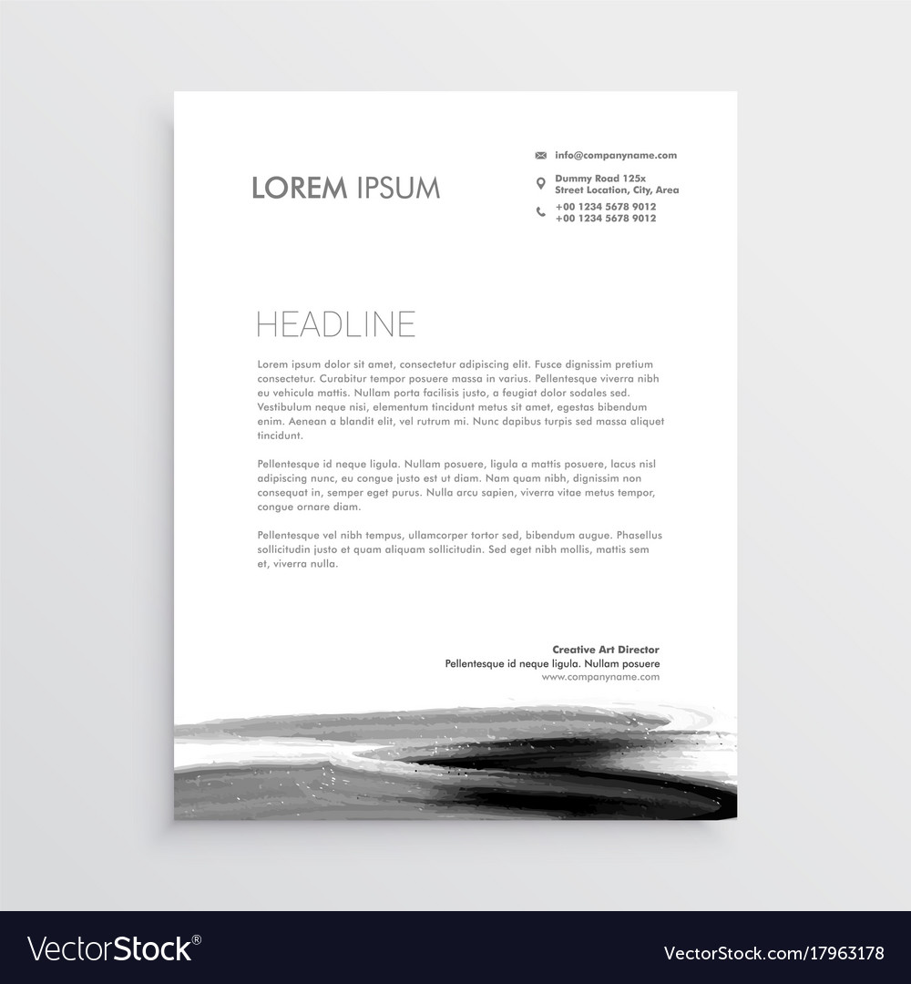 Abstract letterhead template design with paint vector image thecheapjerseys Choice Image