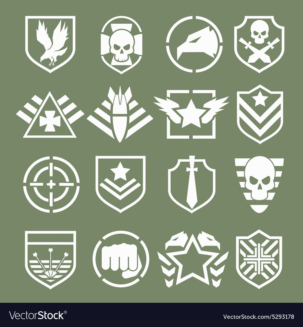 Military logos of special forces vector image