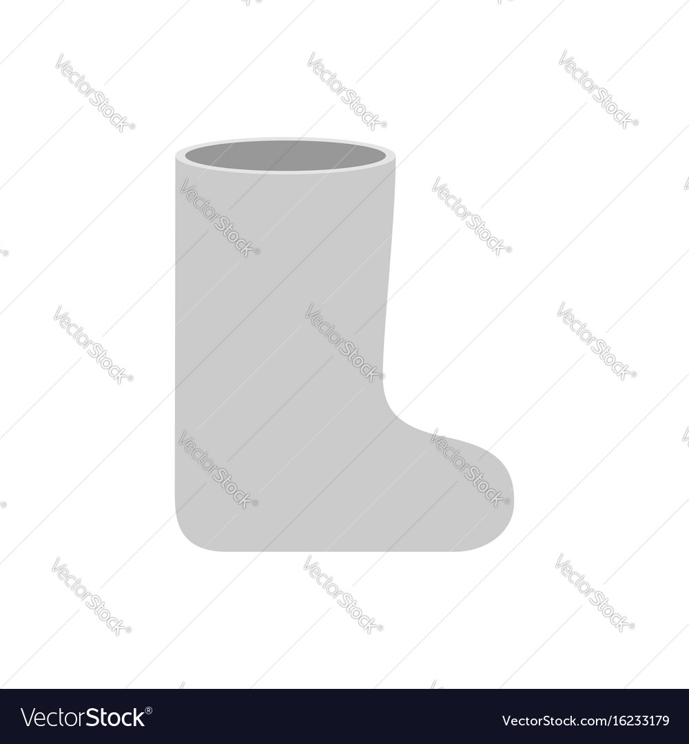 Russian white winter boots valenki warm shoes in vector image