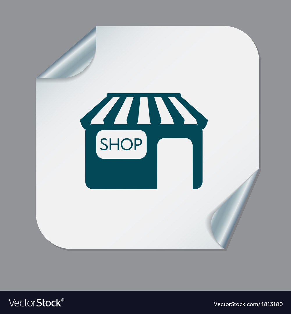 Shop building symbol icon store shopping and vector image shop building symbol icon store shopping and vector image biocorpaavc