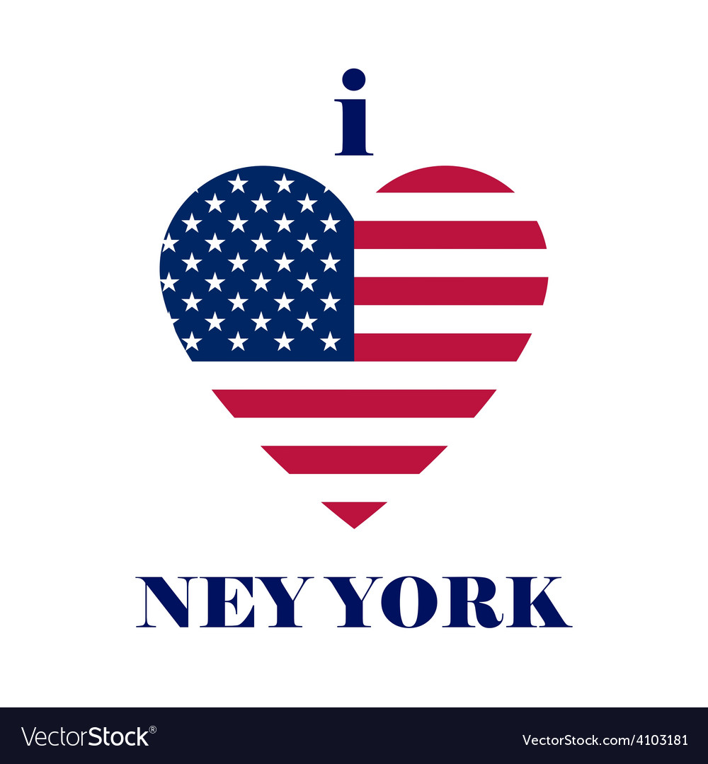 Heart design t shirt - I Love New York T Shirt Design Heart Tee Templates Vector Image