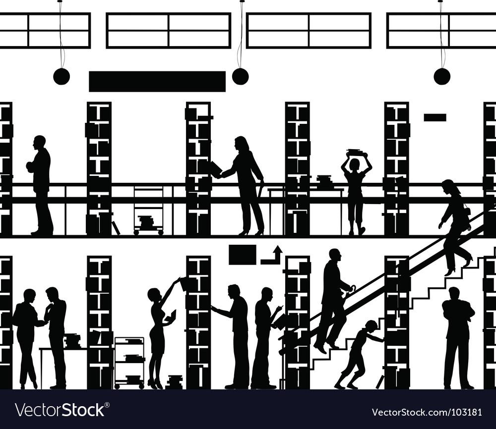 Public library vector image