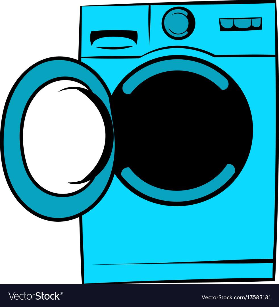 Washing machine icon icon cartoon vector image