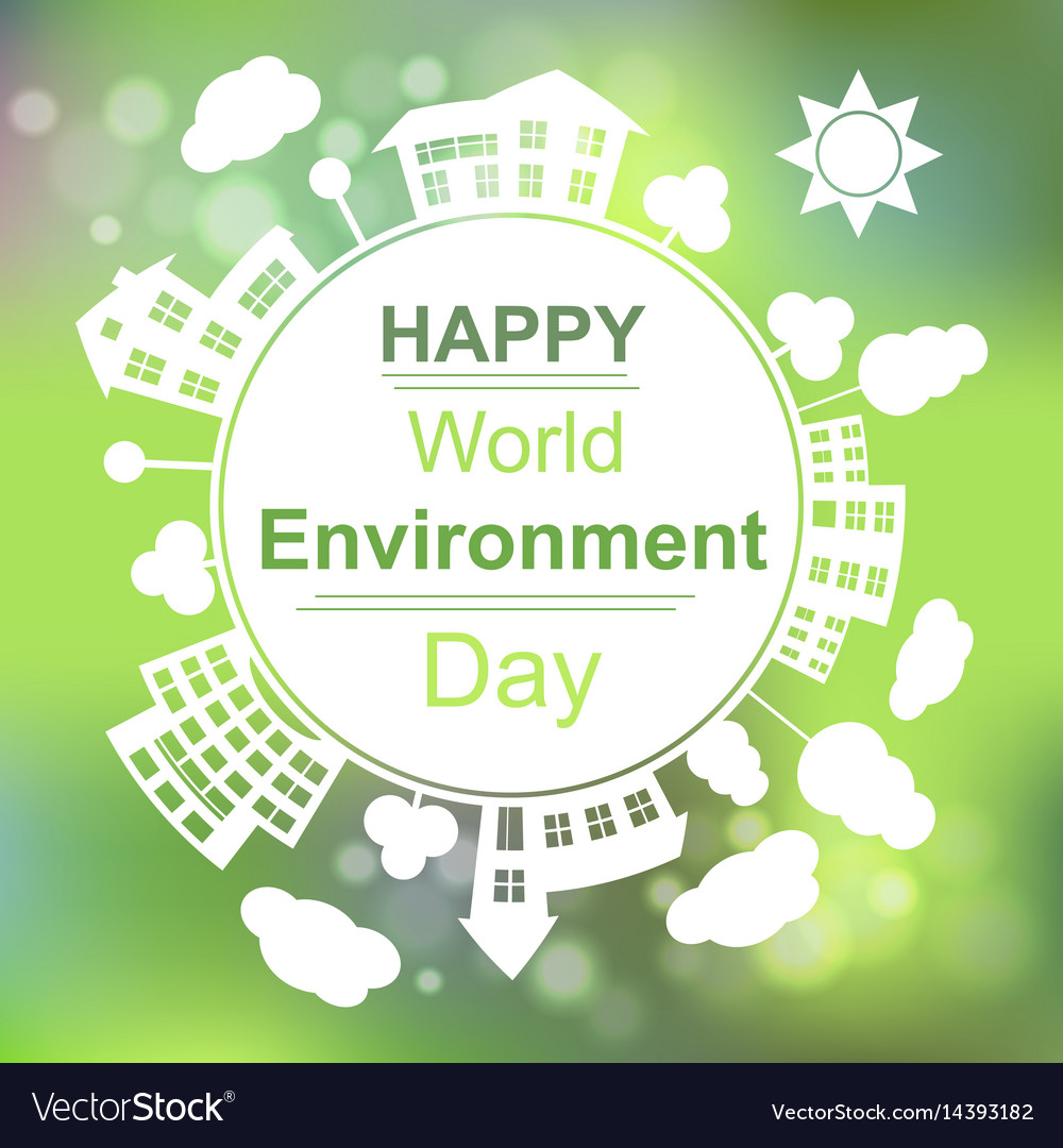 Happy world environment day vector image