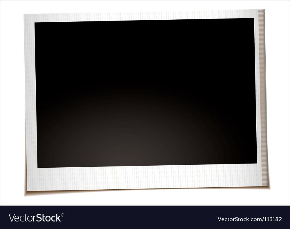Landscape instant photo vector image
