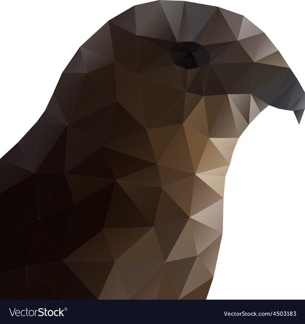 Hawk Eagle Head Polygonal vector image