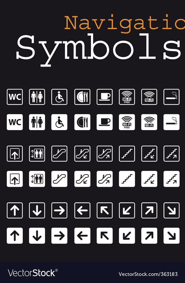 Navigation symbols vector image