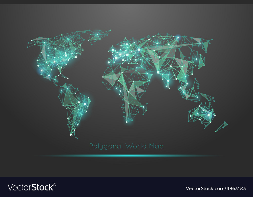 Polygonal world map royalty free vector image vectorstock polygonal world map vector image gumiabroncs Images