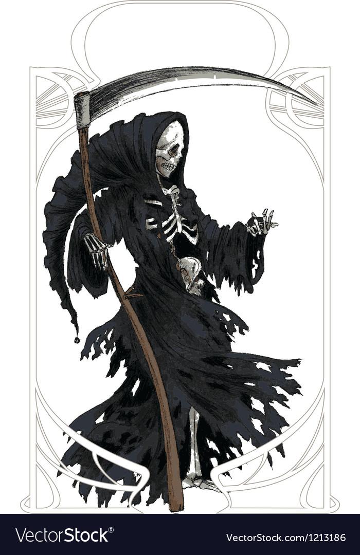 Death Art Nouveau vector image