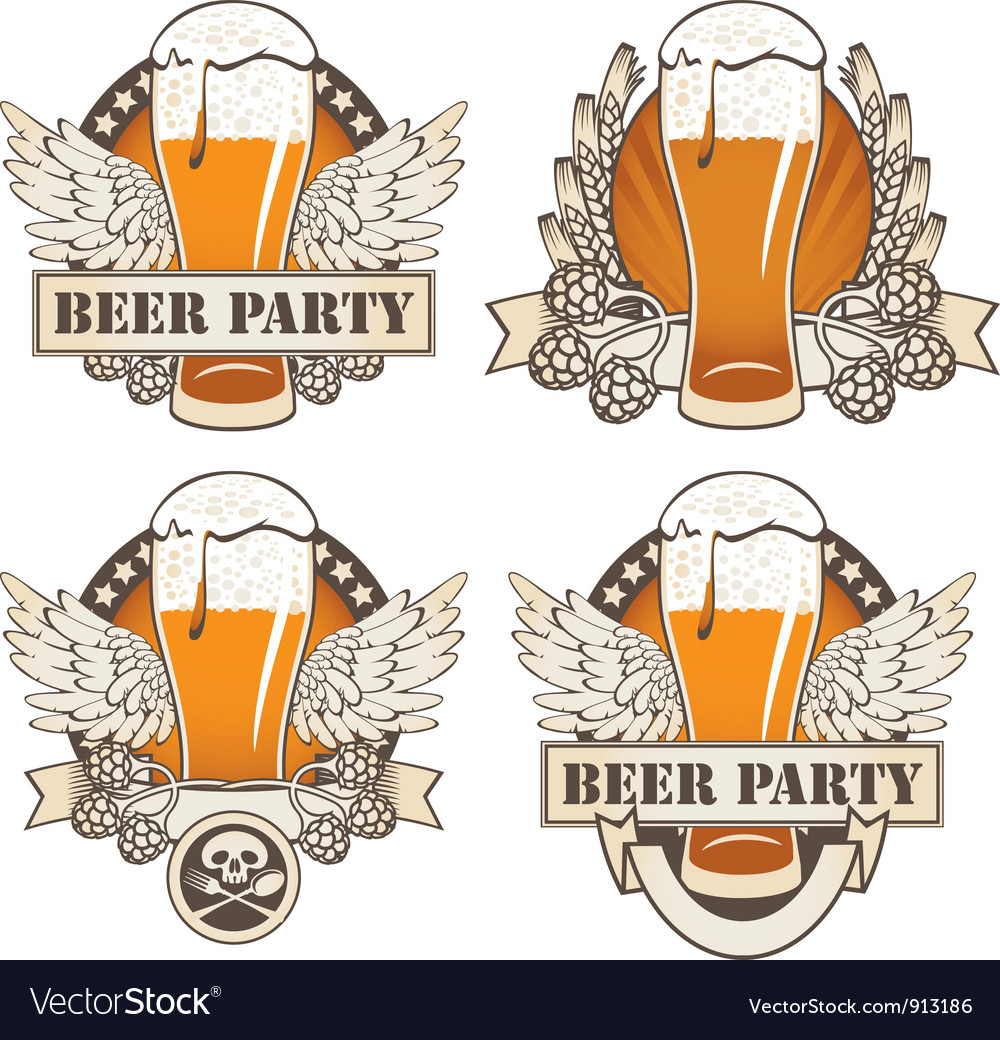 Beer wings vector image