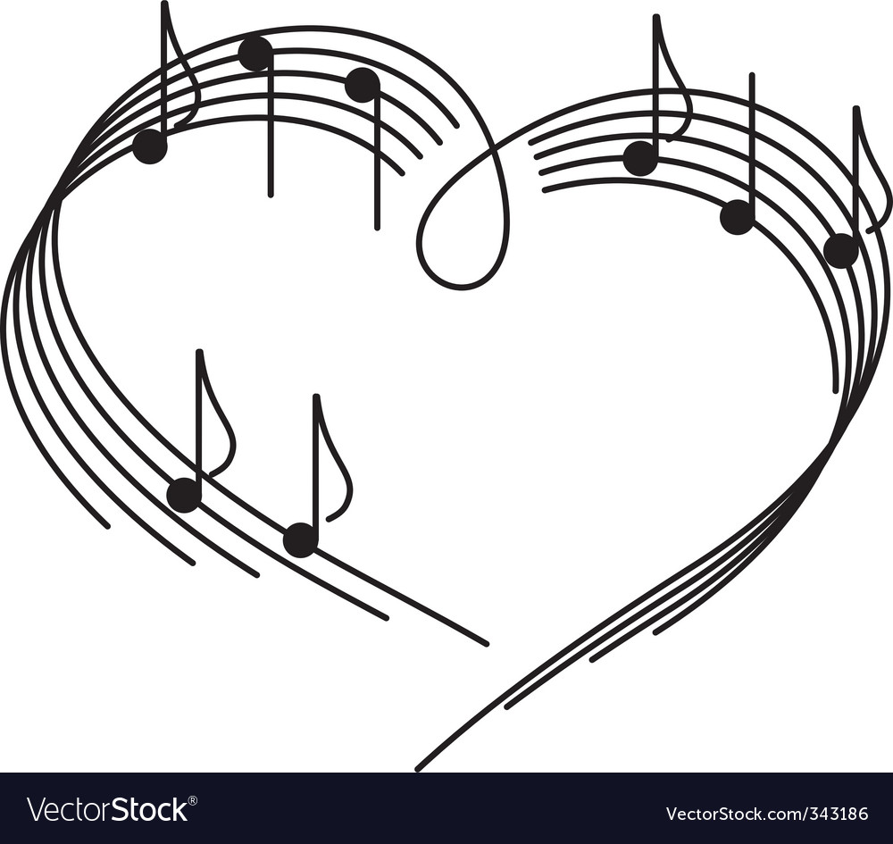 Music of love vector image