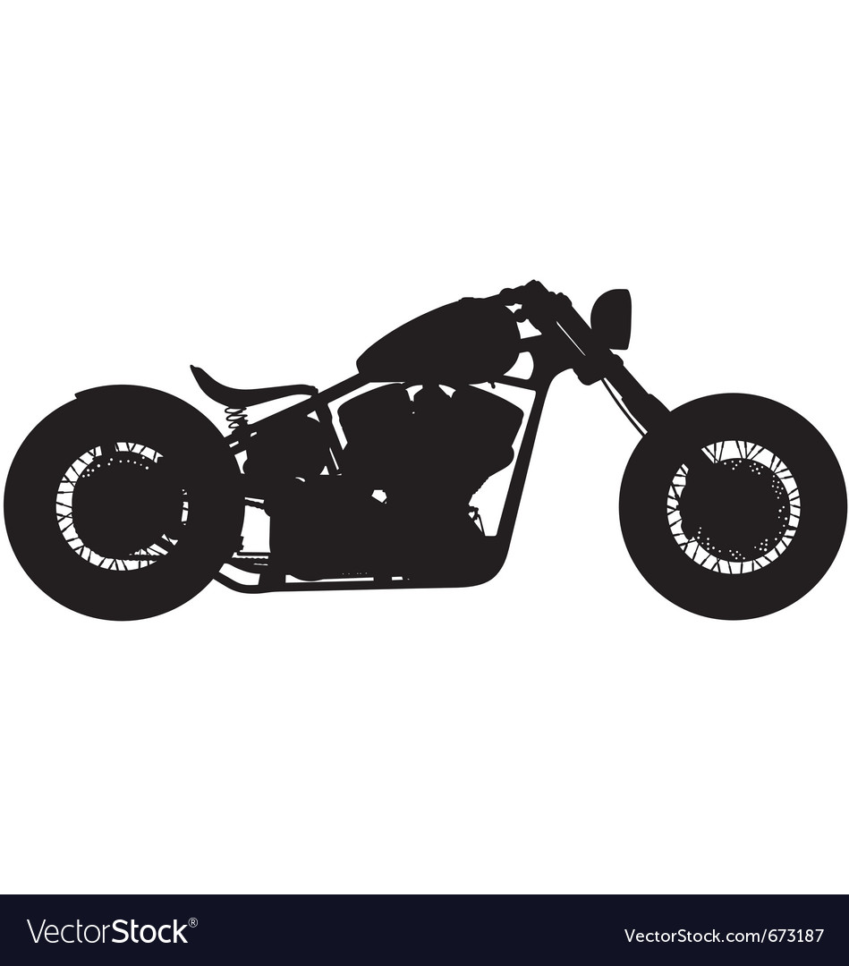 Chopper motorbike silhouette vector image