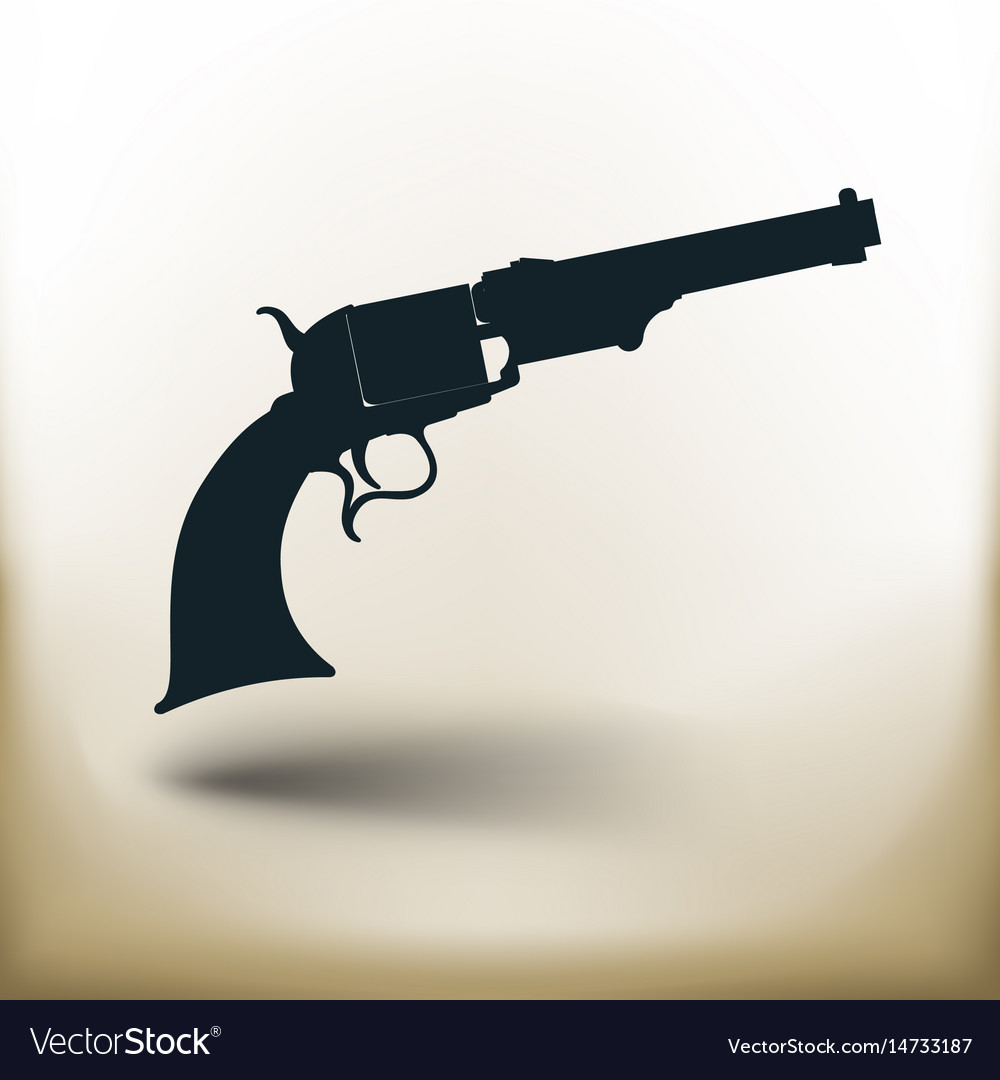 Simple old revolver vector image