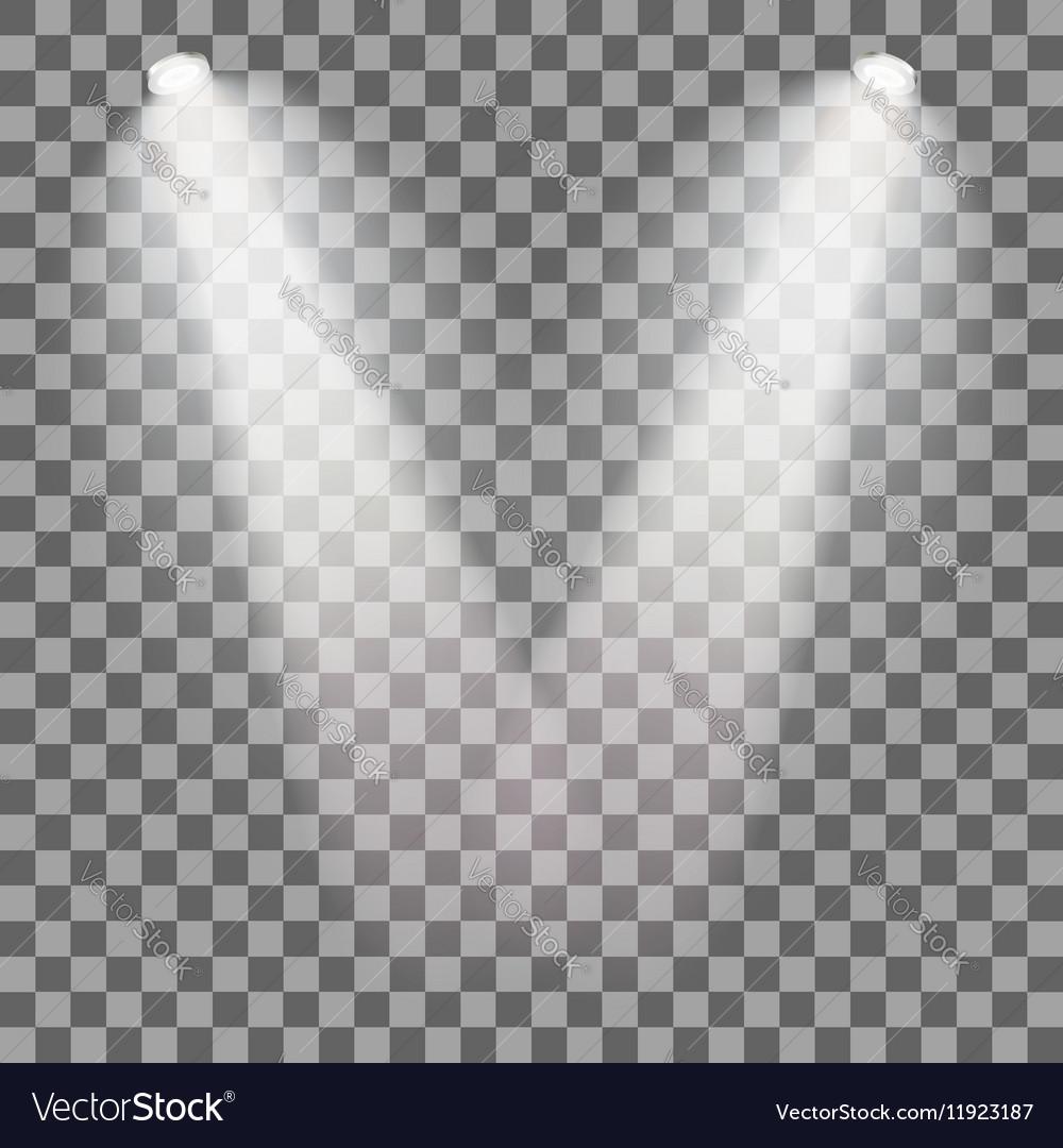 Stage illuminated spotlight vector image
