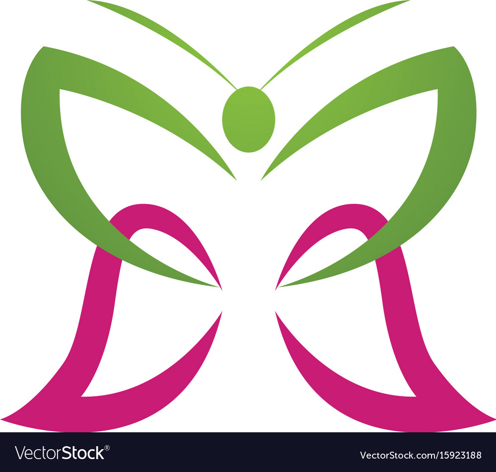 - butterfly conceptual simple colorful vector image