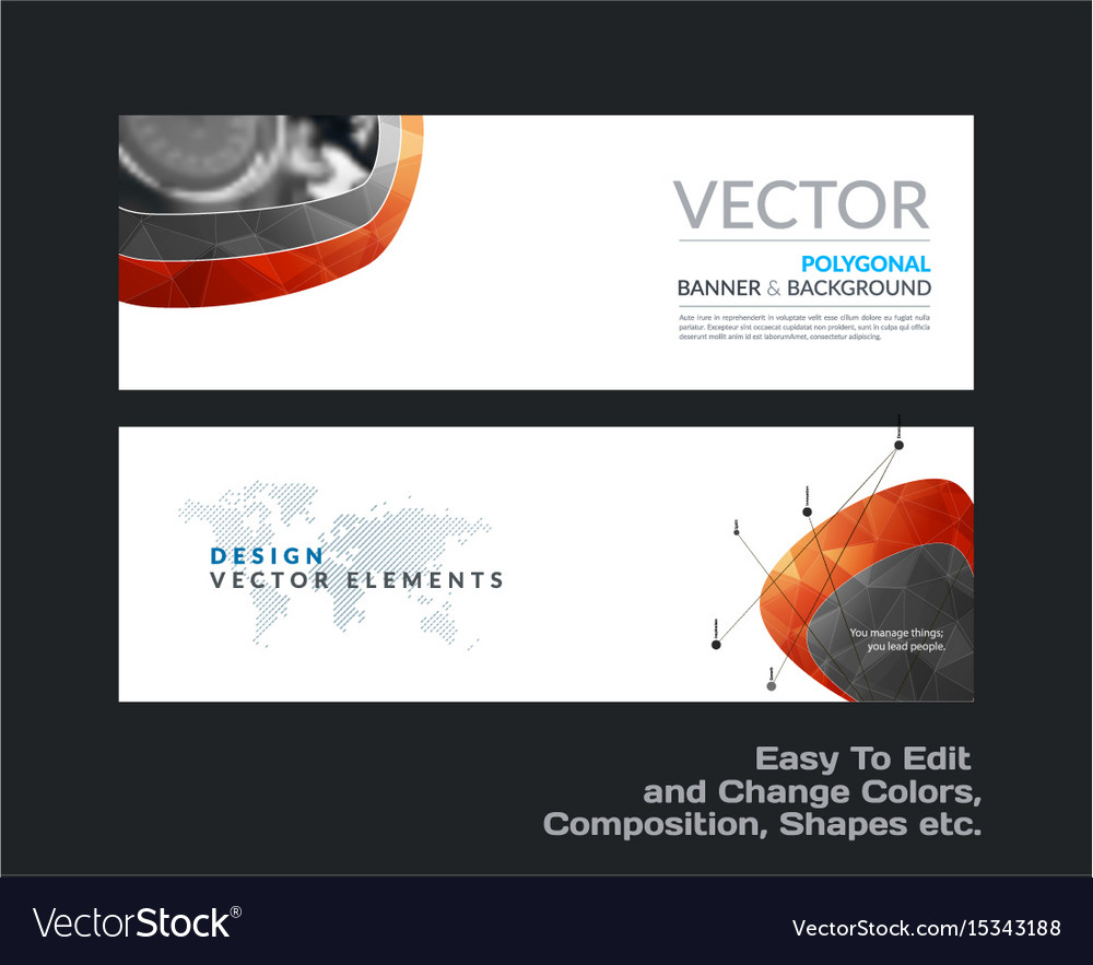 Abstract set of modern vector image