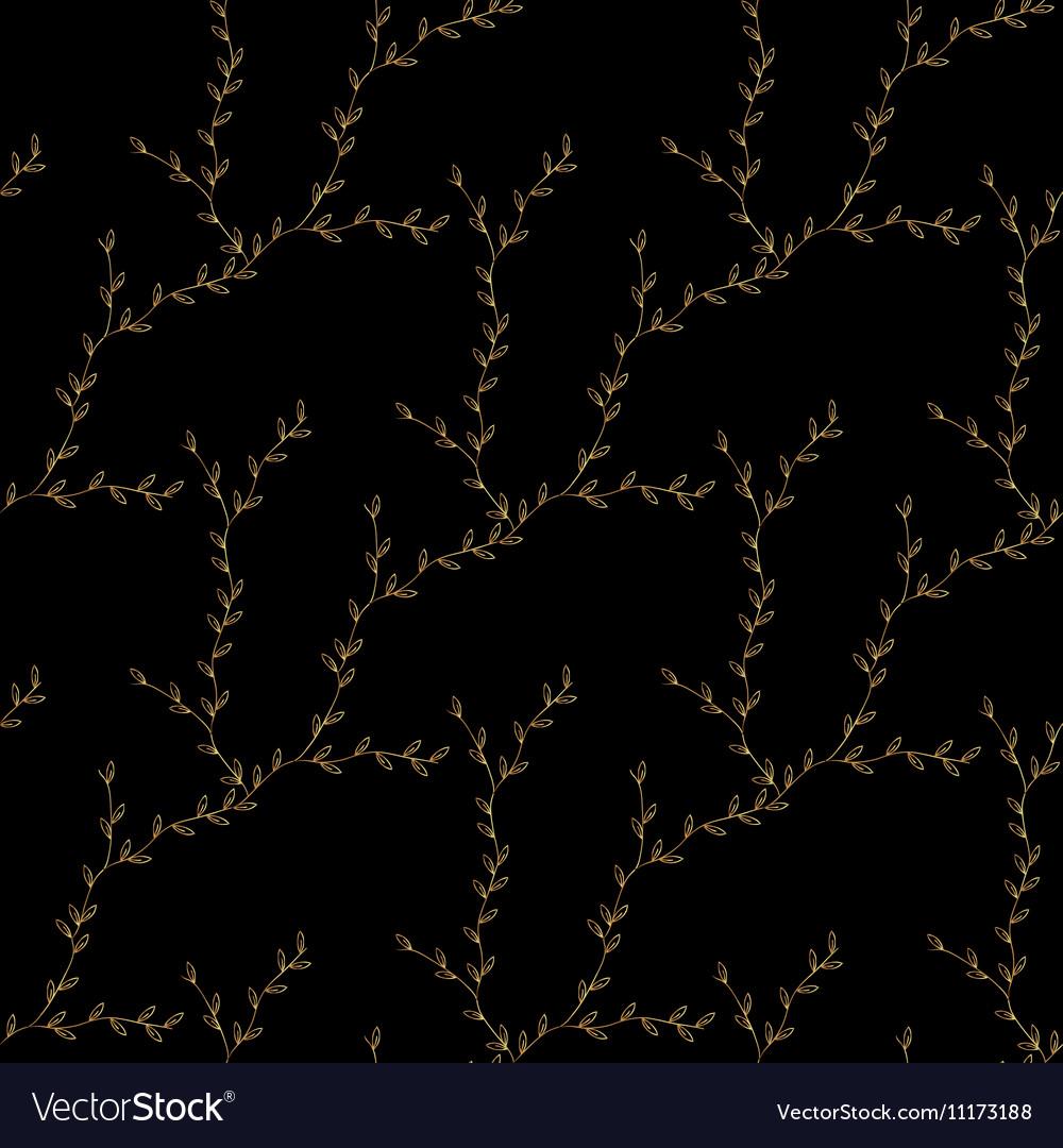 Gold branch geometric pattern Fashion luxury vector image