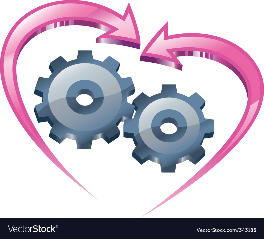 Understanding and love vector image