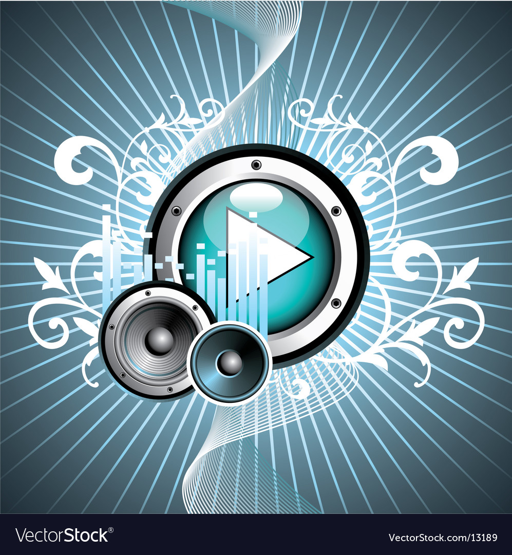 illustration for musical theme vector image