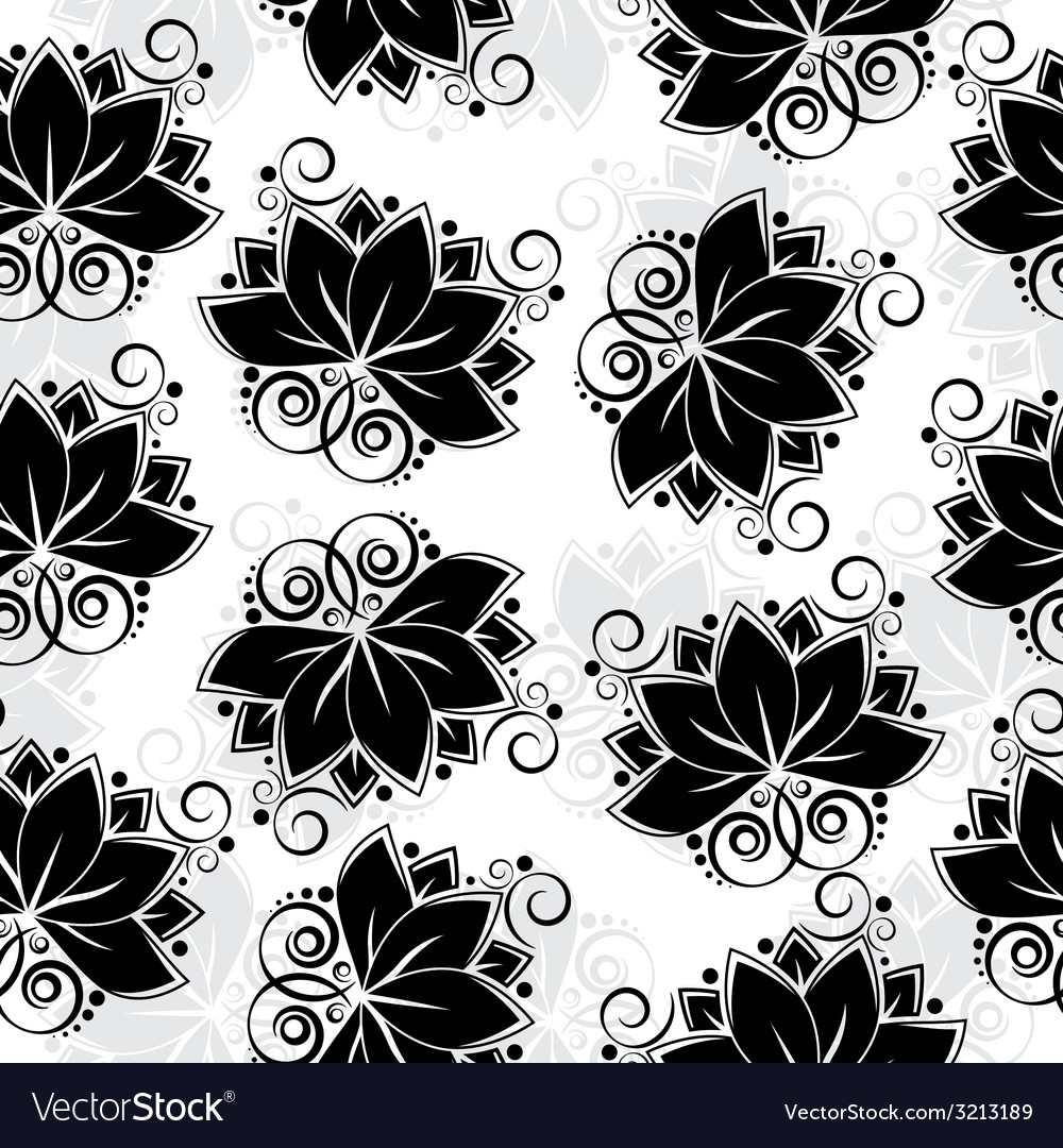 Lotos seamless background vector image
