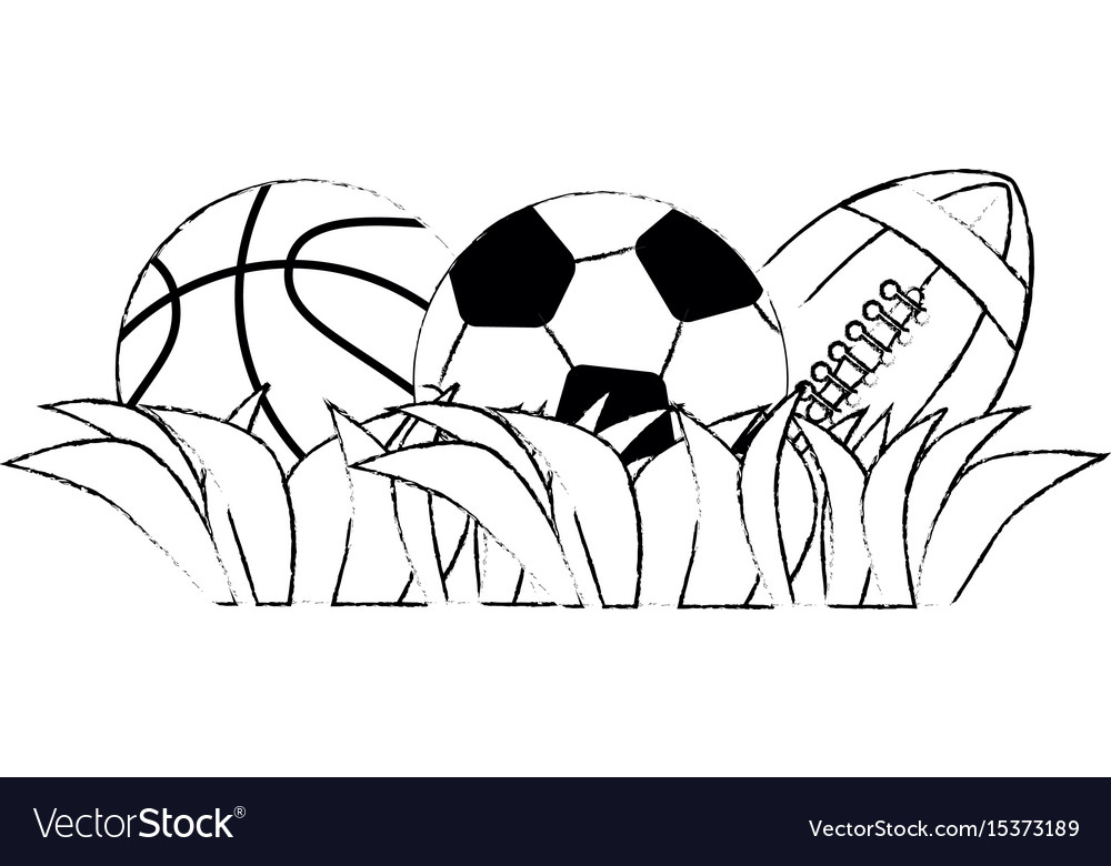Set of sport games vector image