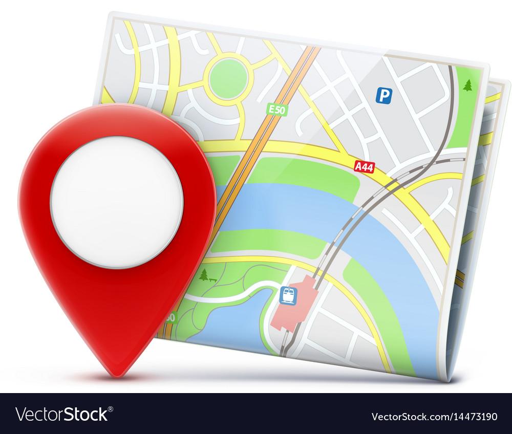 Global navigation concept vector image