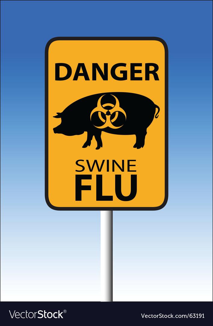 Swine flu sign vector image