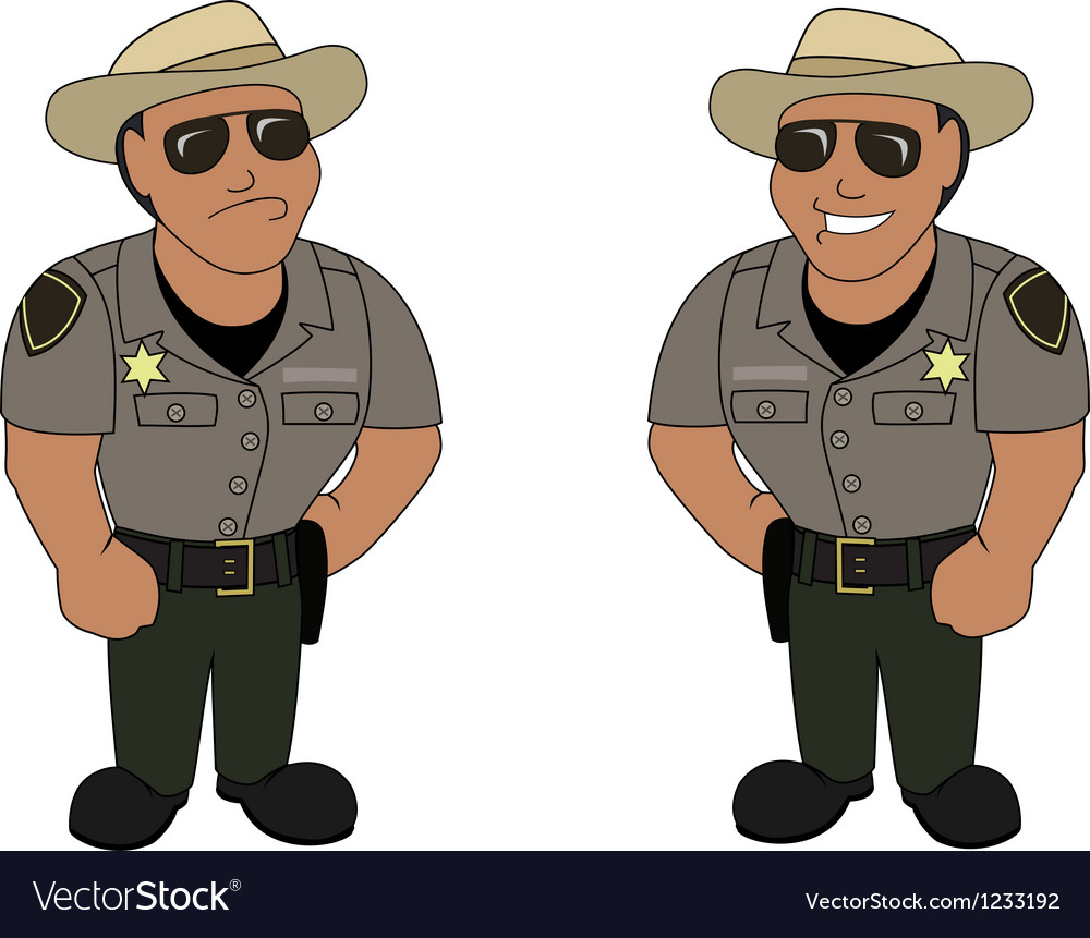 A sheriff vector image