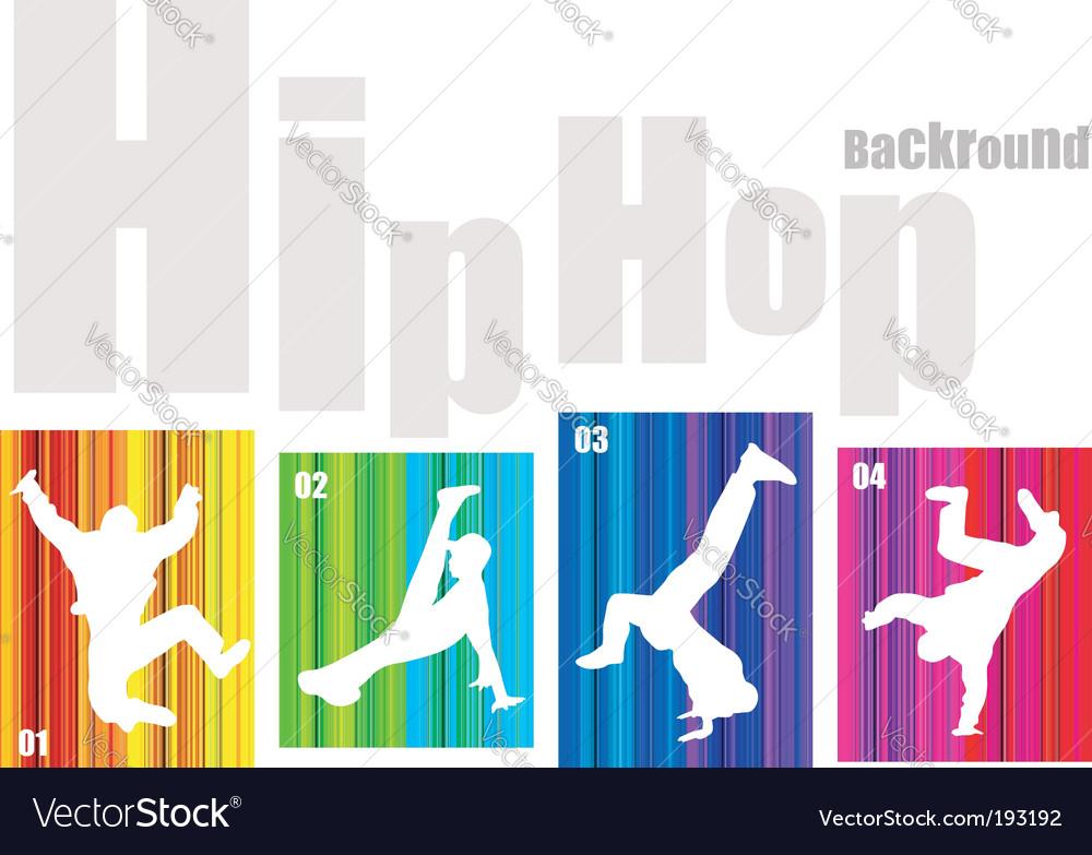 Hip-hop silhouette vector image