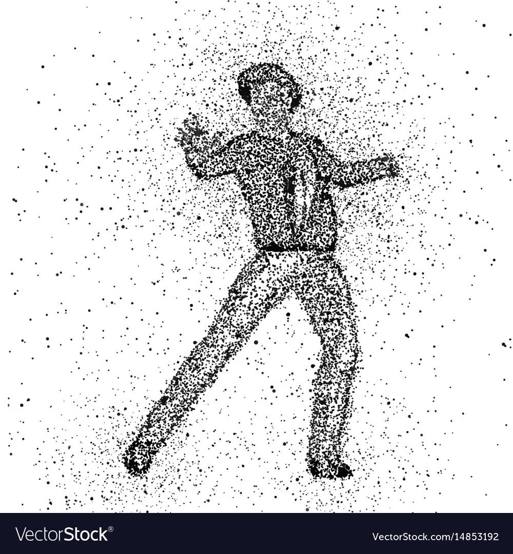 Male figure made with dots vector image