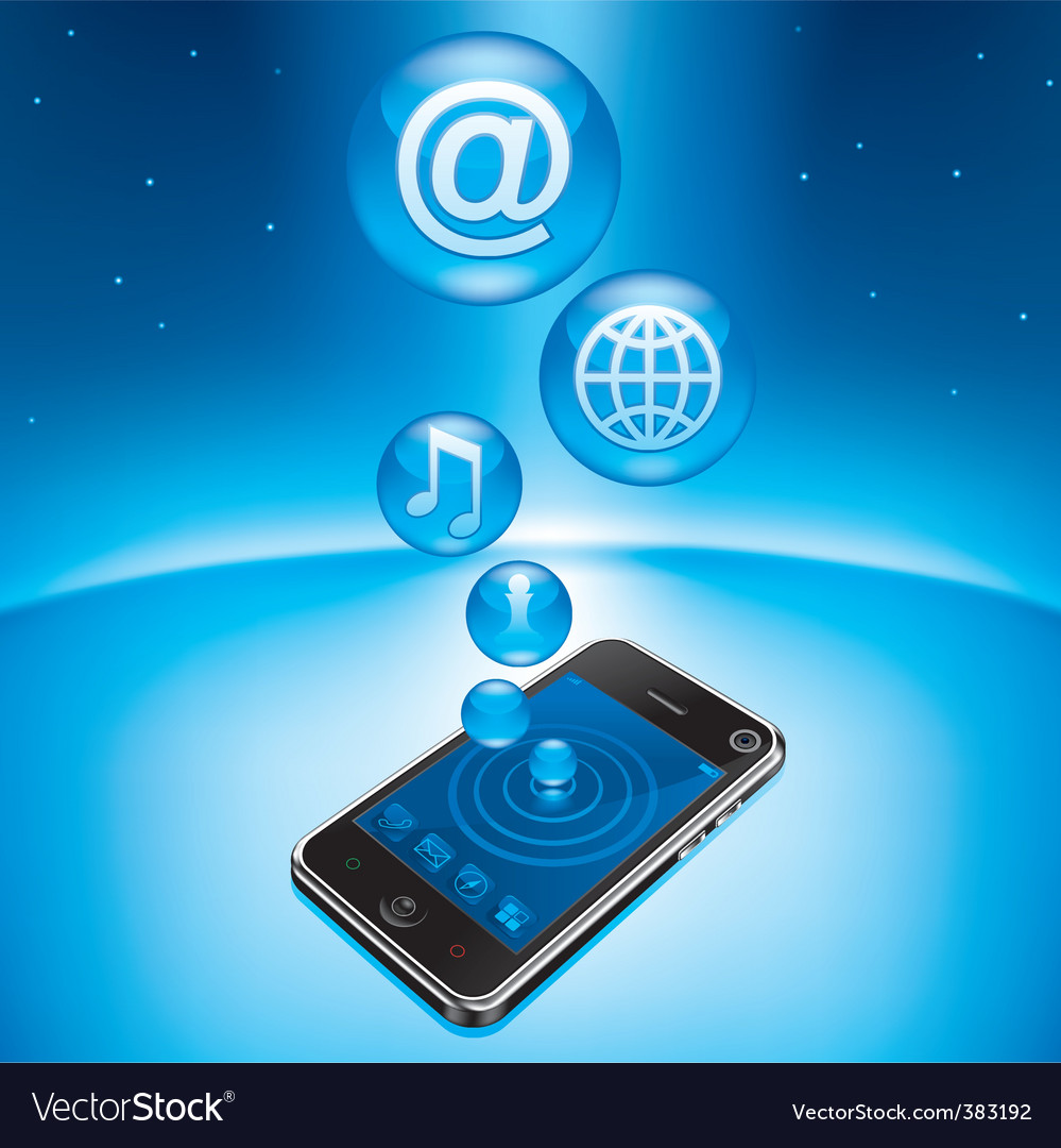 Mobile device vector image