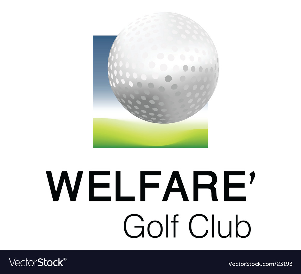 Welfare golf club 2 logo vector image