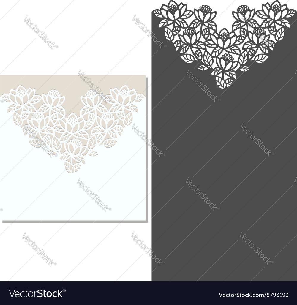 Laser cut envelope template for invitation wedding laser cut envelope template for invitation wedding vector image stopboris Choice Image